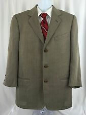 Calvin Klein Collections Sports Coat Suit Jacket 3 Button Wool Herringbone Italy