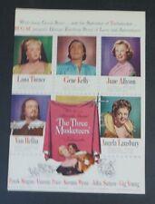 Original Print Ad 1948 THE THREE MUSKETEERS Movie Ad Lana Turner Gene Kelly