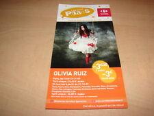 OLIVIA RUIZ - CONCERT 2009!!!!!!!!!!!!!!!!!!!RARE FLYER