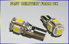 W5W T10 501 5SMD LED NUMBER PLATE CAN BUS OBC ERROR FREE bulbs BMW