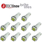 10 x T5, 5050 SMD LED White Super Bright Car Lights Lamp Bulb