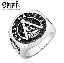 new Man's Titanium steel GENUINE Quality Masonic ring size10