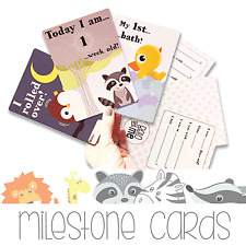 BABY MILESTONE CARDS - Pack of 27 cards (1-12 months & all major milestones)