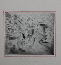 Edouard Goerg (1893-1969) - Flirt  Original-Radierung, 1921