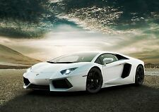 LAMBORGHINI SPORTS CAR IMAGE  A4 Poster Gloss Print Laminated