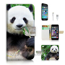 iPhone 7 PLUS (5.5') Flip Wallet Case Cover P2073 Panda