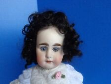 BLACK MOHAIR WIG FOR ANTIQUE DOLL- SZ 7- PICKLES
