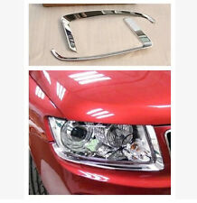 ABS Front Head Light Eyelid Cover Trim for JEEP COMPASS 2011 2012 2013 2014 2015
