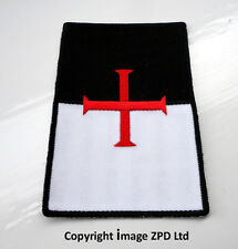P1 Knights Templar Beausant Shield Iron on Patch Crusader Cross St George Biker
