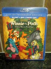 Winnie the Pooh - A Very Merry Pooh Year(Blu-ray/DVD, 2013, 2-Disc Set,& DC) NEW
