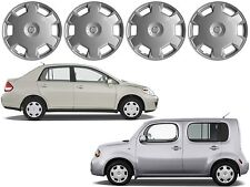 "4 Replacement Hub Caps 15"" For 2009-2010 Nissan Cube 2007-2010 Nissan Versa New"