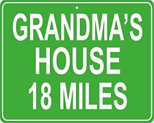 Grandma's house custom mileage sign - distance to your house