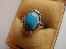 alter Ring, 925iger Silber, Türkis, Größe 49