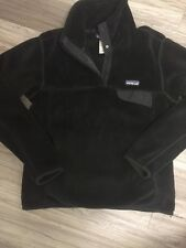 Patagonia Women's All Black Re-Tool Snap Fleece Pullover Size Small