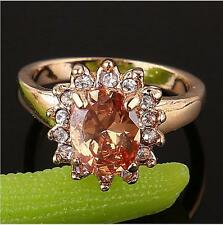 Stunning cool 18k gold filled stylish lady remarkable zircon cut ring SIZE 8