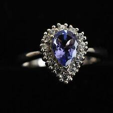 Schöner Ring, 925er Silber, blauer Stein, Turmalin?