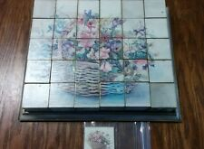 VINTAGE WOOD PICTURE BLOCKS PUZZLE - HAS 6 PAPER PICTURES