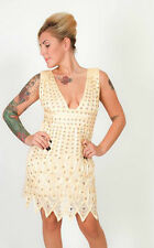 Stunning jewelled champagne gold flapper style dress - Glamour party PINKISS