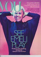 You Magazine 29 January 2012,UK, Emeli Sande cover, Katherine Kelly,