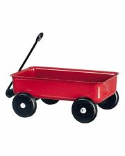 Dollhouse Miniature - Large Red Metal Wagon- 1:12 Scale