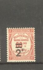 "FRANCE STAMP TIMBRE TAXE N° 54 "" 2F SUR 60c ROUGE "" NEUF xx TTB"