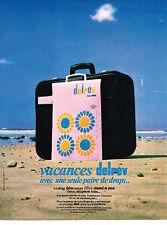 PUBLICITE ADVERTISING 054  1969  DELREV   draps linge de maison LILION