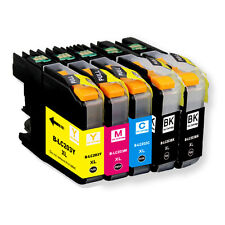 5 PK New Ink Set  for Brother Series LC203 LC201 MFC J460DW J480DW J485DW J680DW