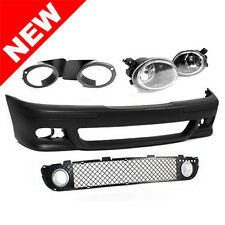 97-03 BMW E39 M5 STYLE FRONT BUMPER W/ ALUMINUM BRAKE DUCTS & CLEAR FOG LIGHTS