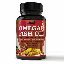 Omega 3 Fish Oil TRIPLE Strength 2000 mg Supplement w/ 800 EPA + 600 DHA +
