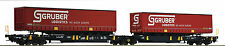 Roco 67407 Double Pocket articulated wagon GRUBER Optional Wheelsets Märklin