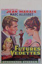"""""""FUTURES VEDETTES"""" Affiche belge entoilée (VADIM /Brigitte BARDOT,Jean MARAIS/)"""