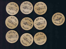 AH-64 Apache Army Helicopter Tokens (x50)