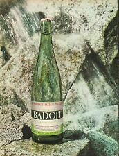 Publicité  Advertising  BADOIT  eau minerale gazeuse