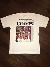 San Antonio Express News Spurs Champs 1999 T Shirt Size Large NWT Tim Duncan NBA