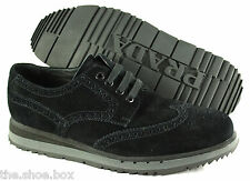 Men's PRADA 'Tooled' Black Suede Wingtip Sneakers US 8.5 PRADA 7.5