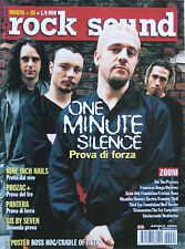 ROCK SOUND 24 2000 One Minute Silence Pantera Nine Inch Nails Six By Seven Kent