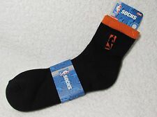 NEW NBA BASKETBALL Logoman Player Crew Socks Mens Large Size ORANGE & BLACK