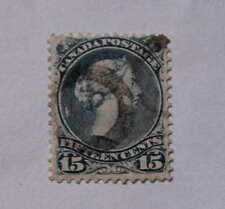 1868 Canada Stamp #30 Large Queen 15 Cents