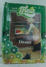 Fleur ( dutch Sindy ) barbie sized dresser kitchen furniture set hard to find!