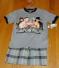 2007 WWF WWE Youth Small Wrestling Superstars Outfit John Cena Undertaker NWT