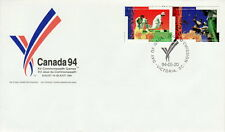CANADA #1517-1518 43¢ XV COMMONWEALTH GAMES FIRST DAY COVER