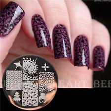 【BORN PRETTY】Plaque De Stamping Pochoir Cerises Nail Art Stamp Template BP78