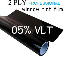 "Professional Window Tint Film 2 PLY 30""x20ft Roll 5% VLT Black Tinting"