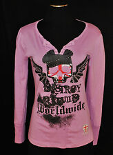 Pepe Jeans London Destroy & Rebuild Rock Grunge Long Sleeve T-shirt Tee Top L
