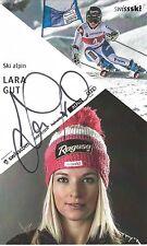 Autogramm Lara Gut Ski alpine Schweiz Bronze Olympia Sotschi Schauspielerin groß
