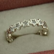 Authentic Pandora 190974CZ-52 Starshine CZ Stars Size 6 Sterling Ring