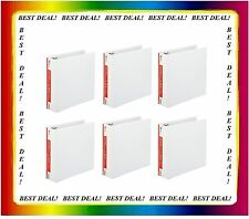 6 Office Impressions White 3 inch View Binders 3 Round Ring binder lot ct - NEW