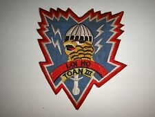 "ARVN SF ""LOI HO TOAN III"" Thunder Tiger Recon Team 3 Vietnam War Patch"