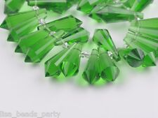 New 10pcs 20mm Chandelier Faceted Drop Pendant Crystal Glass Loose Spacer Beads