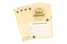 Bumble Bee Baby Shower Invitations A6 Cute Mummy To Be Invites Pack of 10